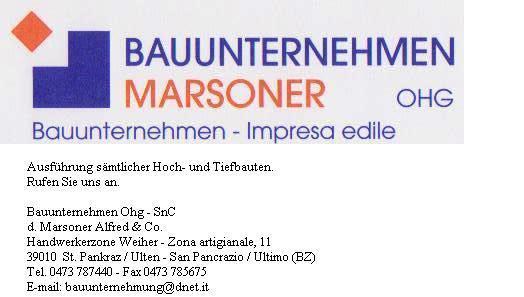 Bauunternehmen Marsoner