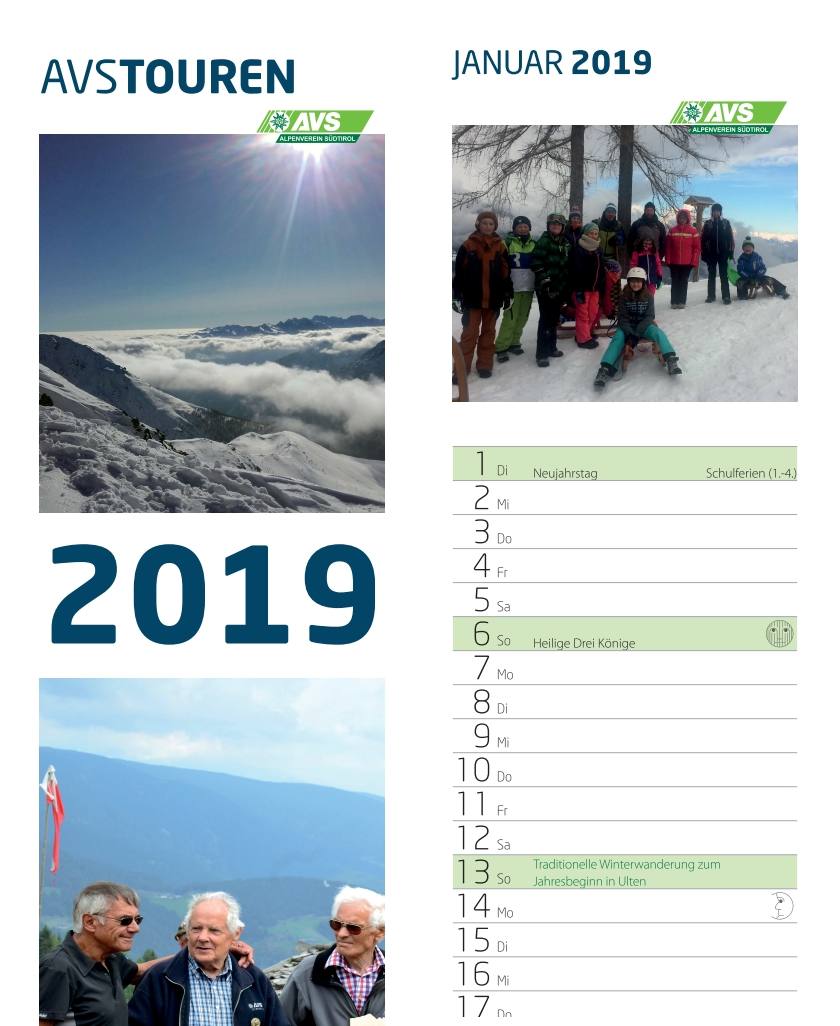 Jahreskalender 2019
